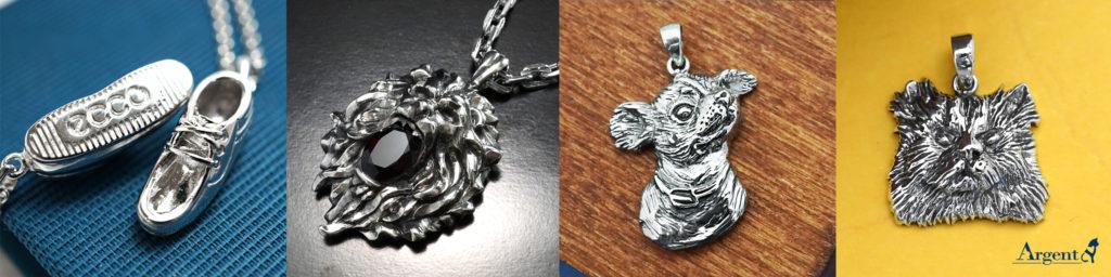 安爵銀飾-客製化訂做-手工蠟雕-製作動物和全立體純銀飾品