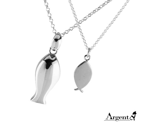 哨子魚+小銀魚 純銀項鍊