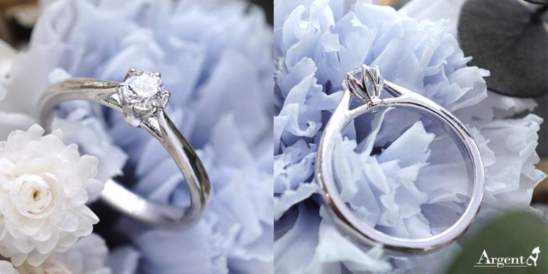 花蕾K金真鑽戒指