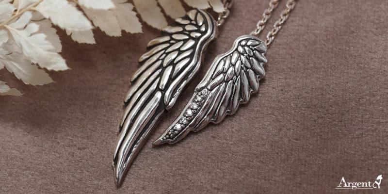 天使之戀純銀對鍊
